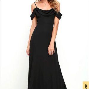 Lulus Reflective Radiance Black Maxi Dress